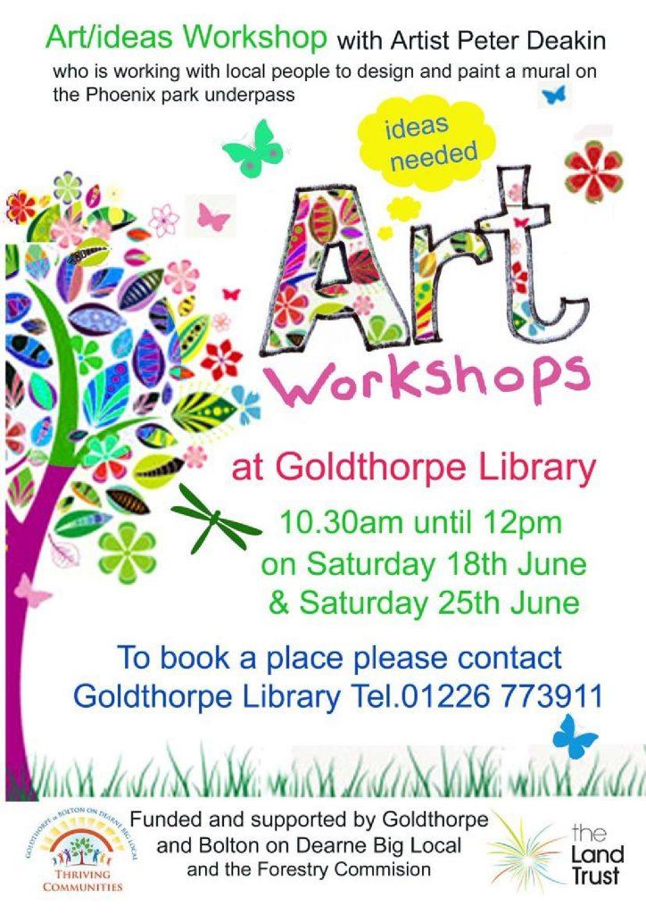 Art Workshop Poster Goldthorpe Library