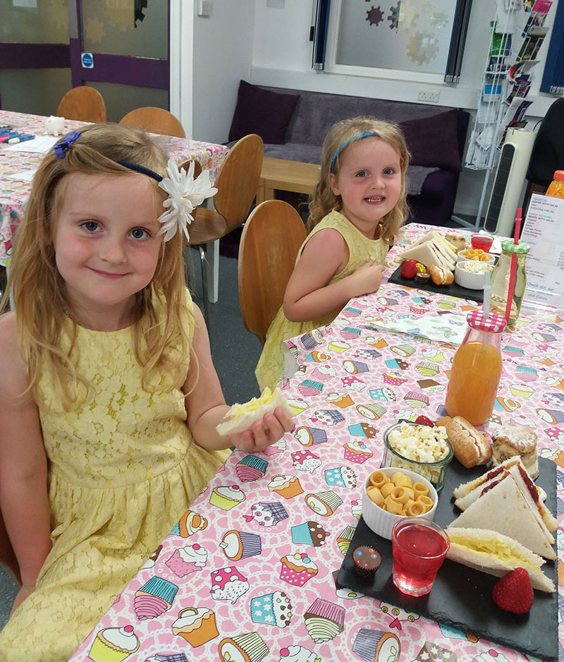 Childrens Crafternoon Tea at Snap Tin Cafe