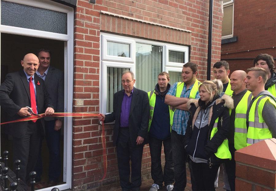 Dearne Community Housing - John Healey Cuts Ribbon