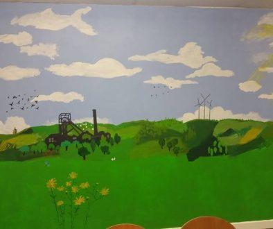 The Snap Tin Cafe Mural