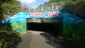 Goldthorpe Bolton Big Local - Phoenix Park Mural Complete
