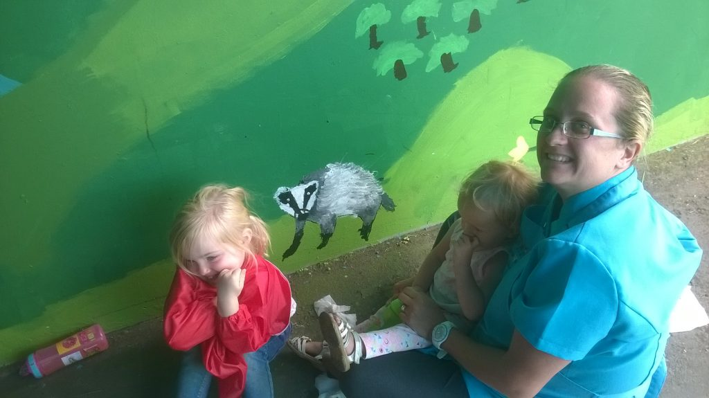 Goldthorpe Bolton Big Local - Families at the Phoenix Park Mural