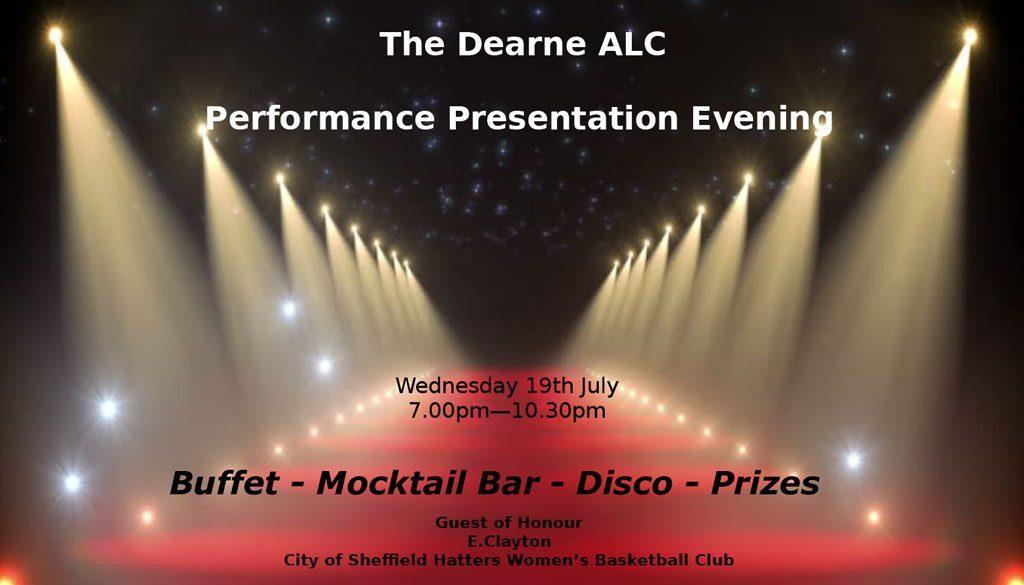 The Dearne ALC Performance Presentation Evening
