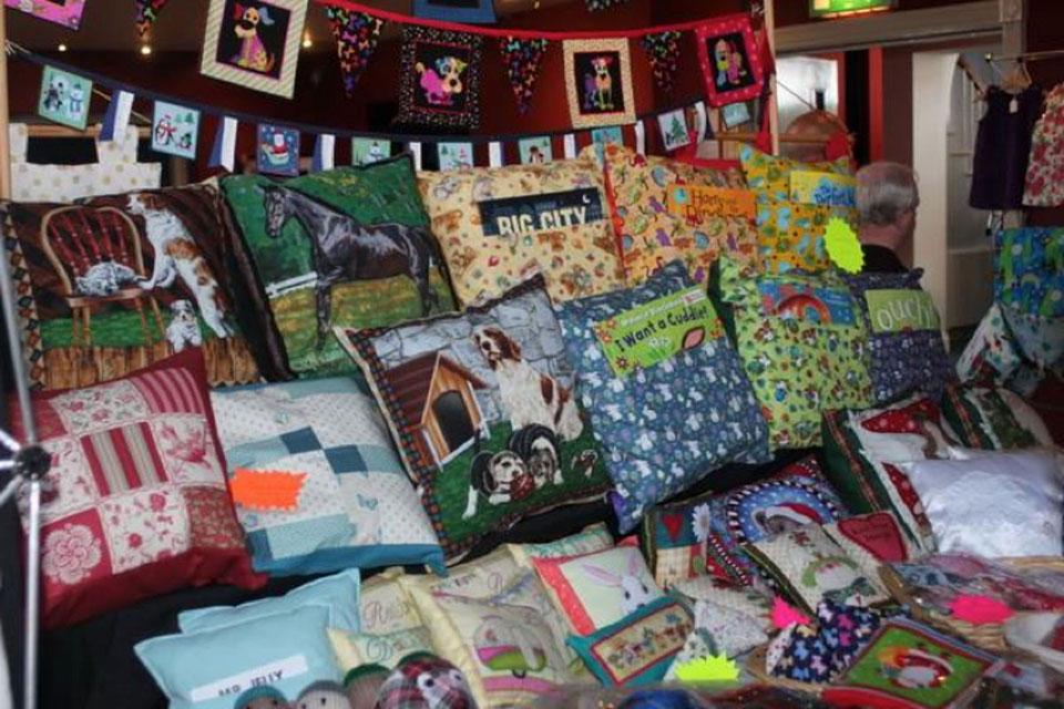 Dearne Arts - Cushions on display